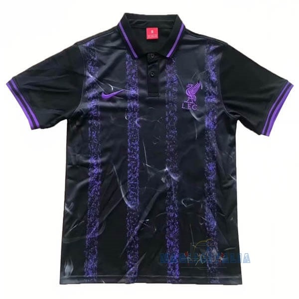 Mgliette Calcio Polo Liverpool 2019 2020 Nero Purpureo